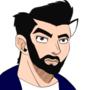 bearded version of me in Jojo style