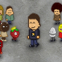 Newgrounds Pixel Crew by 3D-xelu