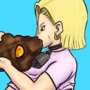 Android 18 and videl scat