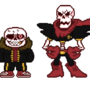 [Underfell] - Edgy Sans and The Great and Terrible Papyrus