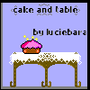 Cake and Table by luciebara