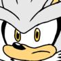 silver the hedgehog art by onix m