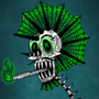 Green Skeleton Punk
