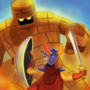 Dragon Quest Hero vs Golem
