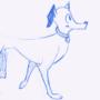 Dog Walk Cycle - animated