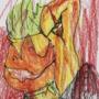 Sketch card 1=chainsaw duck