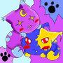 Lexie n Sashi evil kittys by PICOSANGELALEX