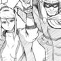 Samus and Captain Falcon sketch
