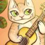 cat n guitar