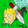 Larry's Sword Dilemna by PICOSANGELALEX