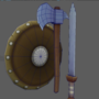 Low poly RPG weapons