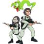 Tadeo And Yoko Ghostbusters