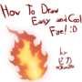 How to draw easy fire