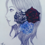 Girl With Roses
