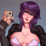 Major Motoko's making sure you watch her new show