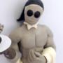 Waiter in white