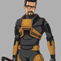 HL2 - The Free Man by SuperKusoKao