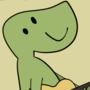 Dinosaur With ukulele