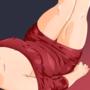 heels and beautiful red dress! By JosuEdu