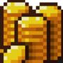 Gold coins pixel art