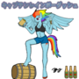 Rainbow Dash Captain Morgan Parody Anthro