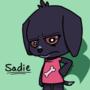 Sadie (my dog) in Animal Crossing