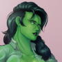 She-Hulk and her wet shirt