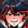 """Ryuuko's Post-Battle stretching"""