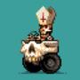 The skull pope-mobile