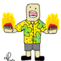 angry tourist guy by tibistar