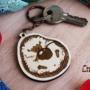Hedgehog cute keychain