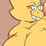 Alphys and college boy 5