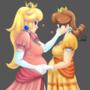 Pregnant Peach and Daisy