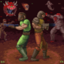 Doomguy and Ranger sitting in a tree