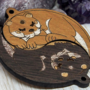 Otters Yin Yang wooden charms