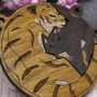 Cat and Tiger wooden charms