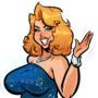 Anna Nicole Smith - Red Cartpet - Cartoon PinUp Commission
