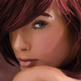 Red Brunette by Deadartcore