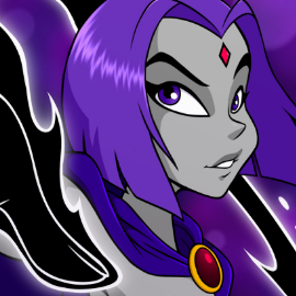 Raven NUDE (Black and white) by Zugalov on Newgrounds
