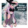 Goth Iridescent Dolphin