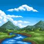 MS Paint Landscape