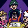 Funni boys drawing Mario