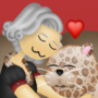 Evelyn and Leopard 👩🏻🦳❤🥰🐆
