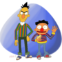 Rick and Ernie, Bert and Morty?