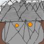 Owl under the mountain