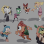 Cartoon characters study