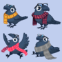 Hipster Crow Avatars for Birdboy Beats