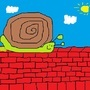 snail on a wall by elcriz000