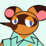 tom nook but i made it on ms paint just with tools