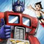 Optimus Prime and Astro Boy Postcard Memory
